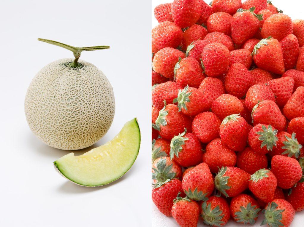 イチゴとメロン